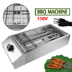 Commercial Electric Bbq Grill Machine Charbroiler Oven Smokeless Barbecue 110v
