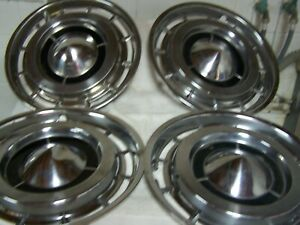 1960 S Buick Lesabre Hubcaps Lot Of 4 15 Inch