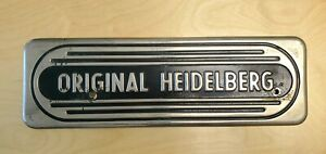 Heidelberg Windmill Letterpress Front Guard Part No 2105