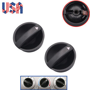 2pcs Control Knob Of Heater A c Temperature Fan Fit For Toyota Tacoma 2005 2011