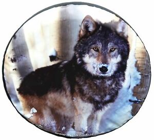 Wolf 15 16 17 Custom Made With Your Size Soft Spare Wheel Tyre Cover