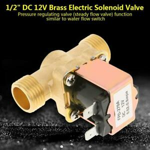 1 2 Copper Electric Solenoid Valve Magnetic Dc12v N c Water Air Inlet Switch