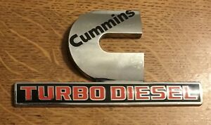 Dodge Ram Cummins Turbo Diesel Emblem 68149701ab Replacements Or For Your Cave