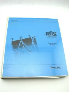 Tektronix Tek 500 Seriestds 520 tds 540 Digitizing Oscilloscopes Tutorial Manual