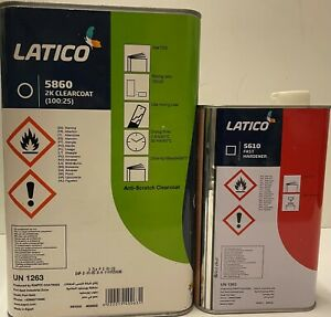 Kapci Latico Clear Coat Urethane Gallon Kit 4 1 Mix Ratio With Fast Hardener