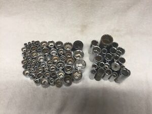 Lot Of 80 Sockets Metric And Sae No Guarentee Of Size Or Brand