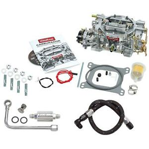Edelbrock 1406 Performer 600cfm Carb W 8131 And 81233 Fuel Line