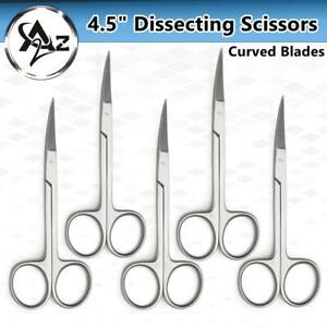 Surgical Curved Iris Scissors 4 5 Ophthalmic Suture Removal Tissue Dissection