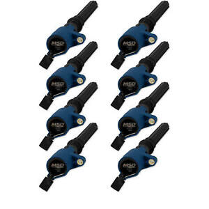 Msd Blue Coils For Ford Cop 4 6 5 4l 2 valve 98 14 8 pack Exceptional Value