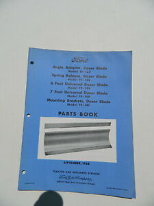 1958 Vintage Ford Tractor Dozer Blade Parts Book Manual Models 19 137 138 139