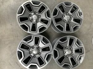 17 2013 18 Jeep Wrangler Rubicon Wheels Oem Rims Factory Set 4