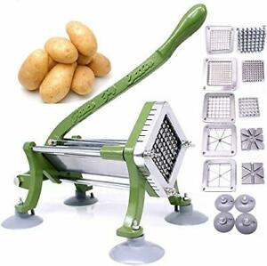 French Fry Cutter Commercial Potato Slicer With Suction Feet Complete Set Inclu