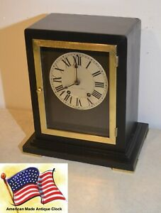 Restored Seth Thomas Navarre 1928 Art Deco Period Antique Cabinet Clock