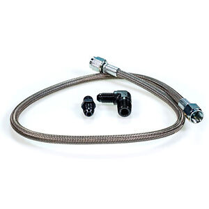 Squirrelly 24 Turbo Oil Feed Line Kit 1 8 Npt To 4an For Borg Warner Non Efr