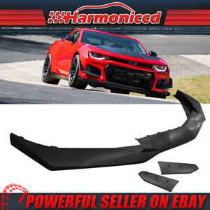 Replacement Front Lip Fits 16 18 Chevy Camaro 1le Style Front Bumper Pp