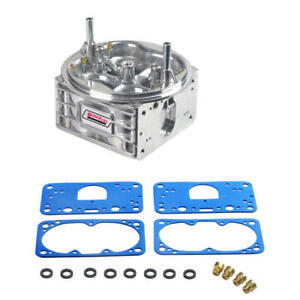 Quick Fuel Carburetor Main Body 6 850anqft 850 Cfm Annular Booster Shiny