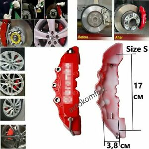 Size 1 Set Of 2 Pieces Brembo Universal Brake Caliper Covers Front Rear Car