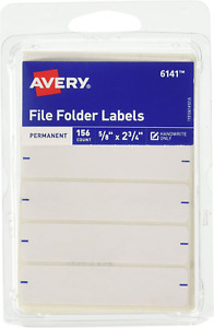 Avery Permanent File Folder Labels 2 75 X 0 625 Inches White 156 Labels