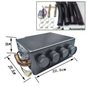 12v Universal Auto Truck Underdash Compact Heater 12pcs Pure Tube Speed Switch