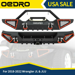 Oedro Textured Front Or Rear Bumper Combo Fits 2018 2021 Jeep Wrangler Jl Jlu