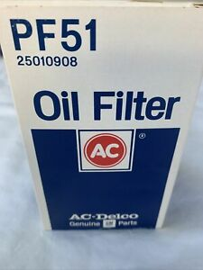 Vintage Nos Acdelco Pf51 Duraguard Oil Filter Gm 25010908 New