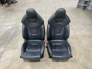 Oem 11 Audi S5 Front Driver Passenger Racing Seats In Black Leather Opt Q4q