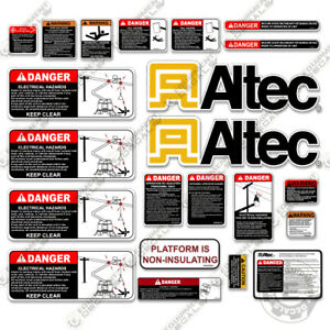 Altec At200a Decal Kit Bucket Truck Warning Stickers 3m Vinyl