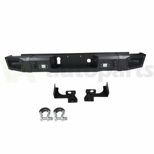 Heavy Duty Rear Bumper With D Rings Led Lights For Chevy Silverado 2500 15 17