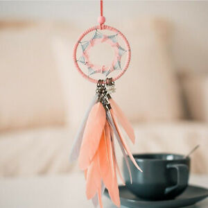 Car Pink Feather Pedant Decoration Rear View Mirror Hanging Ornaments Girls Gift