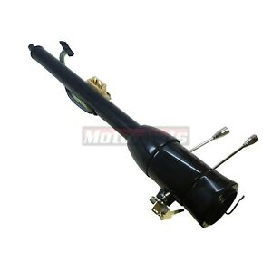 32 Black Stainless Floor Shift Tilt Steering Column W Ignition Key Gm Hot Rod