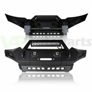 Front Winch Bumper With Led Lights D rings Offroad Guard For Toyota Tacoma 05 15