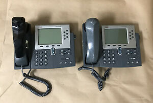 Lot Of 2 7900 Series Cisco Ip Desktop Office Phones Cp 7960g