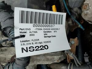 Engine Assembly Nissan Altima 03 04