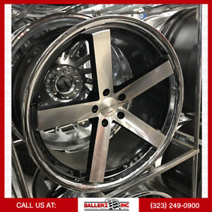 22 5x120 Giovanna Black Machined Wheel Tire Package
