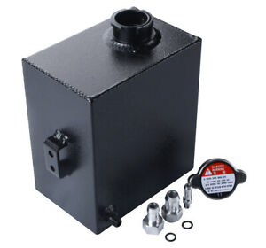 2 5l Aluminum Coolant Expansion Overflow Recovery Water Tank With Cap Universal