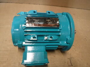 1 Hp 1800 Rpm 208 230 460 Volts Tefc 56c C Face footed With Removable Feet
