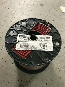 Nexans Stranded Thhn 12 Gauge Building Wire 500 feet Red