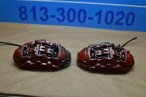 2012 W204 Mercedes Benz C63 Amg Brembo Front Brake Caliper Calipers Pair Red