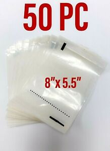 50 Self Adhesive 8 X 5 5 Clear Shipping Labels Packing Envelopes Pouches