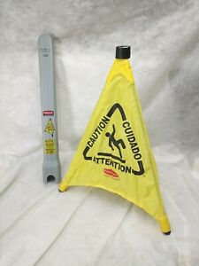 Rubbermaid 20 In Yellow Multi lingual Caution Wet Floor Pop up Safety Cone