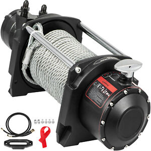 Vevor Hydraulic Winch Anchor Winch 10000lbs Steel Cable Drive Winch For Towing