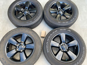 4 20 Dodge Ram 1500 Sport Oem Black Factory Wheels Rims 2018 2019 2020 2495