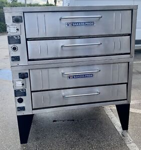 Bakers Pride Pizza Oven Y 351 Natural Gas Doublestack Pizza Oven