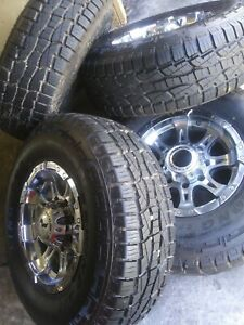 265 75 16 Ford Super Duty F 250 F 350 Excursion 4 Tires Wheels Barely Used
