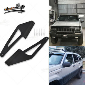Fit 93 98 Jeep Grand Cherokee Zj 50 Led Light Bar Over Roof Mounting Brackets