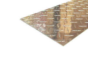 Aluminum Diamond Plate Flat Sheet 062 X 8 X 48 In Uaac