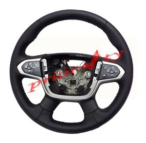 23331082 Oem Steering Wheel Jet Black Leather 2015 2016 Chevrolet Colorado