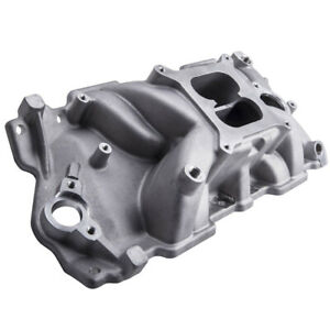 Intake Manifold For Chevy Sbc Dual Plane 283 305 327 350 Small Block 55 95