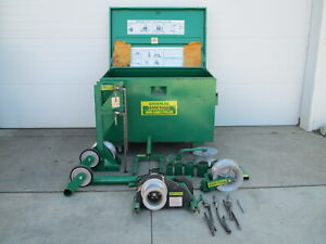 Greenlee 6001 6500lb Super Tugger Cable Puller Pulling System W Job Box Used
