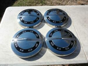 Nos Vintage 1960s Ford Hubcaps Hipo Galaxie Falcon Truck Wheel Covers Dog Dish